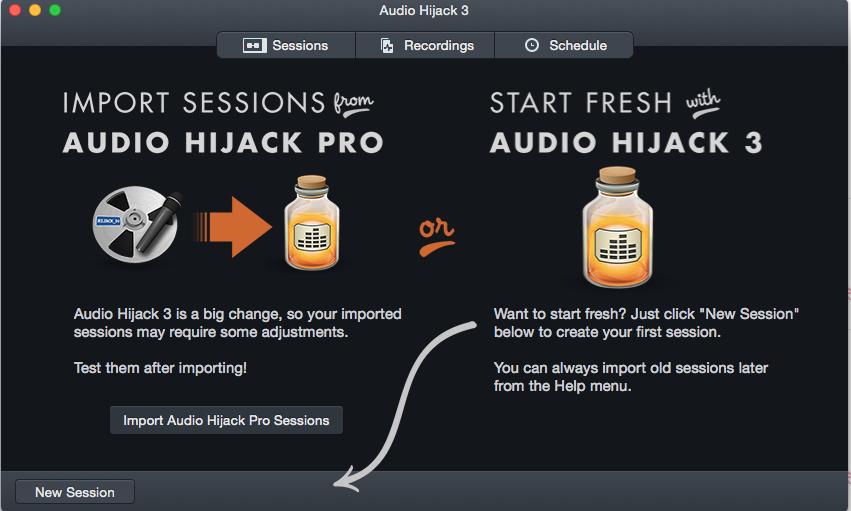 Audio Hijack 3の使い方(簡単に)とコロン劇場ライブ中継のご案内